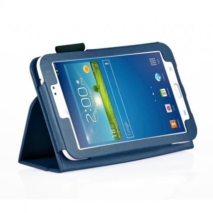 Flip PU Leather Case Cover for Samsung Galaxy Tab 3 8.0 T310/T3110 - Blue