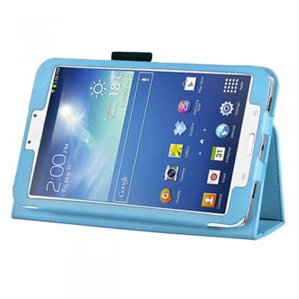 Flip PU Leather Case Cover for Samsung Galaxy Tab 3 8.0 T310/T3110 - Light Blue