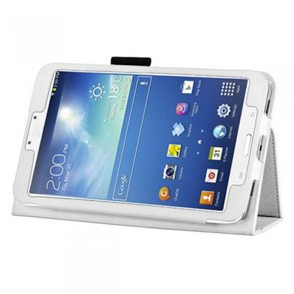 Flip PU Leather Case Cover for Samsung Galaxy Tab 3 8.0 T310/T3110 - White