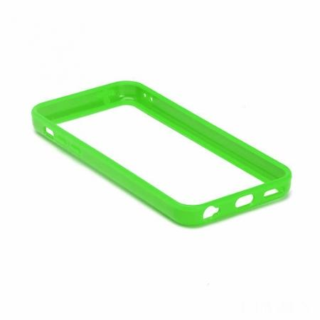 TPU+PC Bumper Frame Case For iPhone 5C - Green