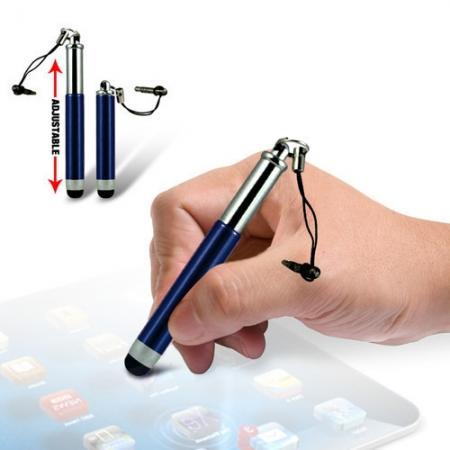 Capacitive aluminium stylus pen for mobile phones, PDA, Tablet PC, iPad & iPhone - Dark blue