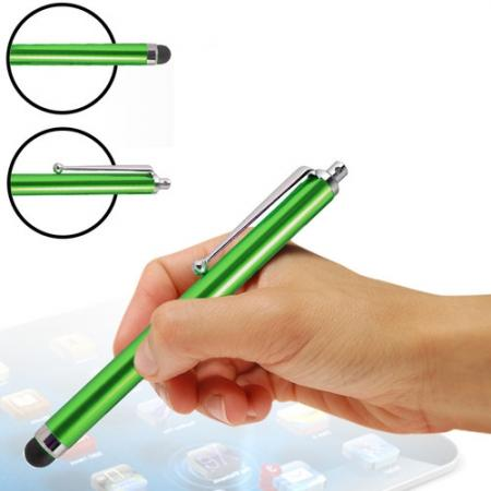 Capacitive aluminium stylus pen for mobile phones, PDA, Tablet PC, iPad & iPhone - Green