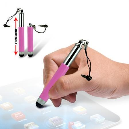 Capacitive aluminium stylus pen for mobile phones, PDA, Tablet PC, iPad & iPhone - Pink