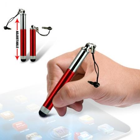 Capacitive aluminium stylus pen for mobile phones, PDA, Tablet PC, iPad & iPhone - Red
