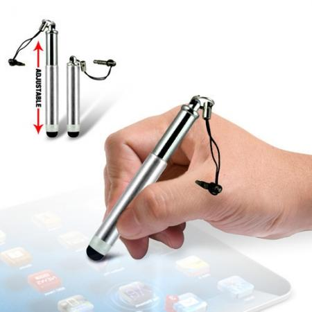 Capacitive aluminium stylus pen for mobile phones, PDA, Tablet PC, iPad & iPhone - Silver