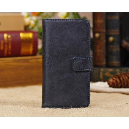 iphone 5c cases leather,High Quality Crazy Horse Pattern Flip Wallet Leather Case for iPhone 5C with Credit Card Slots - Dark Blue