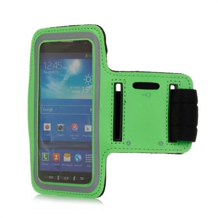 Neoprene Armband Strap Case for Samsung Galaxy S4 Active i9295 - Green