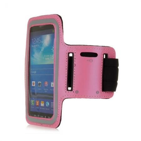 Neoprene Armband Strap Case for Samsung Galaxy S4 Active i9295 - Hot Pink