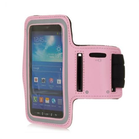 Neoprene Armband Strap Case for Samsung Galaxy S4 Active i9295 - Pink