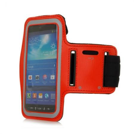 Neoprene Armband Strap Case for Samsung Galaxy S4 Active i9295 - Red