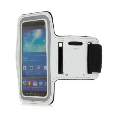 Neoprene Armband Strap Case for Samsung Galaxy S4 Active i9295 - White
