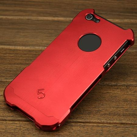 Premium Grade Aluminum Metal Case Cover for iPhone SE/5S/5 - Red