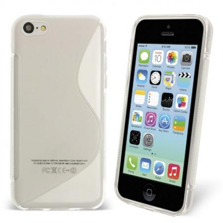 S Line Wave Gel Case Cover For Apple iPhone 5C - Clear
