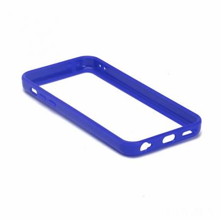 TPU+PC Bumper Frame Case For iPhone 5C - Dark blue