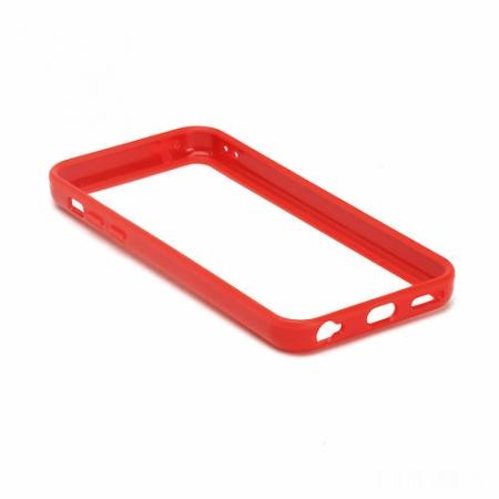 TPU+PC Bumper Frame Case For iPhone 5C - Red
