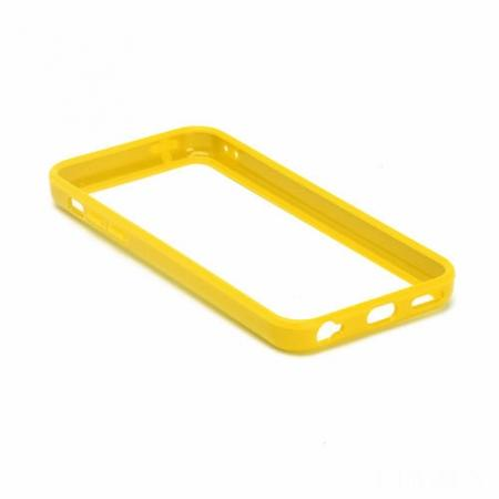 TPU+PC Bumper Frame Case For iPhone 5C - Yellow