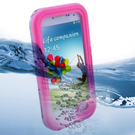 Waterproof Shockproof Dirt Snow Hard Case For Samsung Galaxy S4 SIV i9500 - Pink