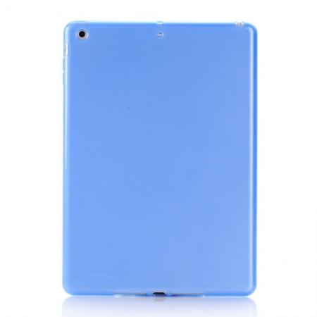 High Quality Soft TPU Gel Back Cover Case for iPad Air - Blue