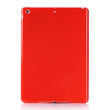High Quality Soft TPU Gel Back Cover Case for iPad Air - Red
