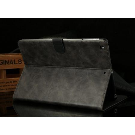 Luxury Crazy Horse Texture Leather Stand Case for iPad Air
