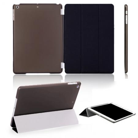 Magnetic Smart Cover Leather + Back Case for iPad Air - Black