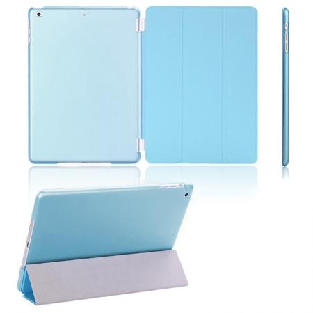 Magnetic Smart Cover Leather + Back Case for iPad Air - Blue