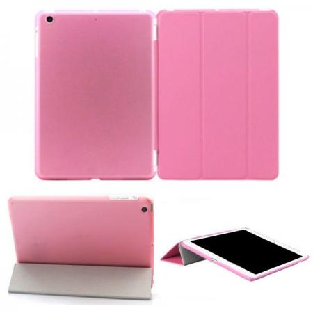 Magnetic Smart Cover Leather + Back Case for iPad Air - Pink