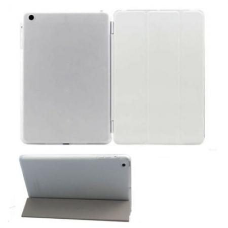 Magnetic Smart Cover Leather + Back Case for iPad Air - White