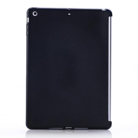 New Arrival Soft Solid TPU Gel Skin Protective Back Cover Case For iPad Air - Black