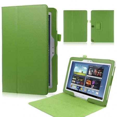 New Lychee Leather Pouch Case With Stand for Samsung Galaxy Note 10.1 P600/P601 2014 Edition - Green