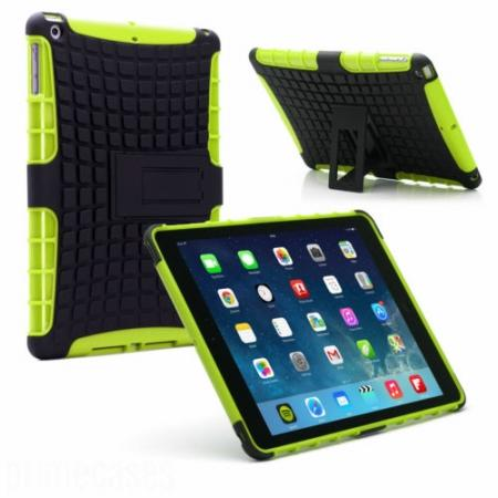 Shockproof Survivor Military Duty Hybrid Hard Case For iPad Air - Green