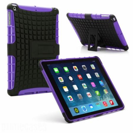Shockproof Survivor Military Duty Hybrid Hard Case For iPad Air - Purple