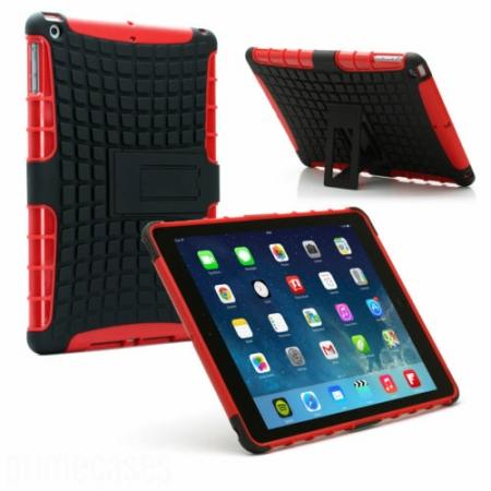 Shockproof Survivor Military Duty Hybrid Hard Case For iPad Air - Red