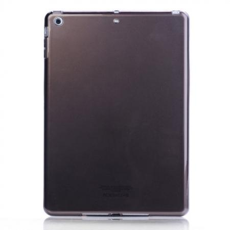 High Quality Clear Transparent TPU Soft Case Cover for Apple iPad Air 5 - Black