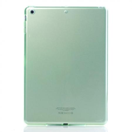 High Quality Clear Transparent TPU Soft Case Cover for Apple iPad Air 5 - Green