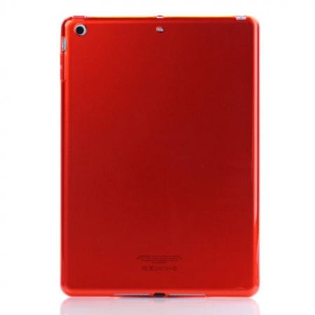 High Quality Clear Transparent TPU Soft Case Cover for Apple iPad Air 5 - Red