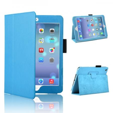 Magnetic PU Leather Smart Cover Case for iPad mini Retina 2 - Blue