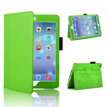 shiny pu leather case for ipad mini retina 2,Magnetic PU Leather Smart Cover Case for iPad mini Retina 2 - Green