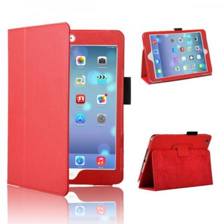 Magnetic PU Leather Smart Cover Case for iPad mini Retina 2 - Red