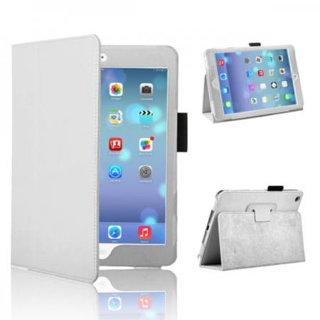 Magnetic PU Leather Smart Cover Case for iPad mini Retina 2 - White