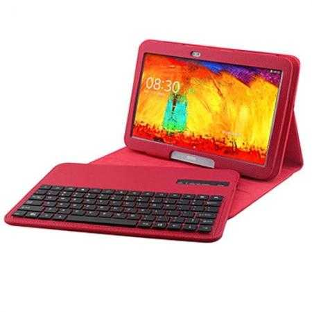Bluetooth Keyboard Leather Case For Samsung Galaxy Note 10.1 2014 Edition P600 - Red