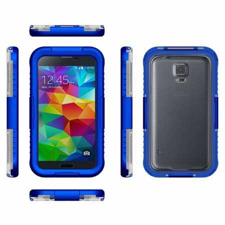 Waterproof Shockproof Dirt Proof Durable Case Cover for Samsung Galaxy S5 - Blue