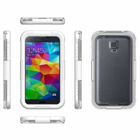 Waterproof Shockproof Dirt Proof Durable Case Cover for Samsung Galaxy S5 - White