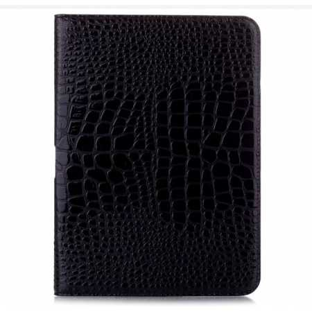 Crocodile Pattern Leather Stand Case for Samsung Galaxy Tab 4 10.1 T530 - Black