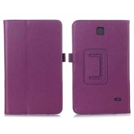 Lychee Leather Pouch Case With Stand for Samsung Galaxy Tab 4 8.0 T330 - Purple