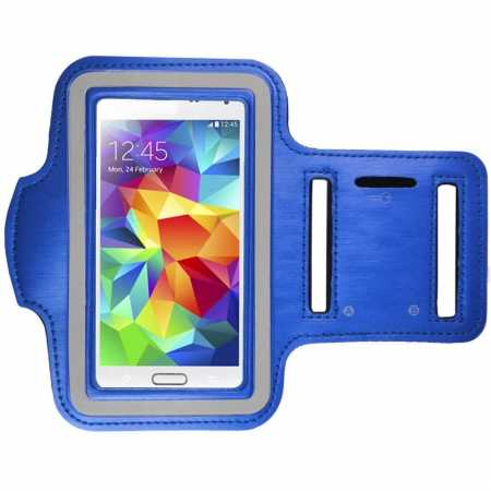 Sports Gym Running Arm Band Armband Case Cover For Samsung Galaxy S5 - Blue