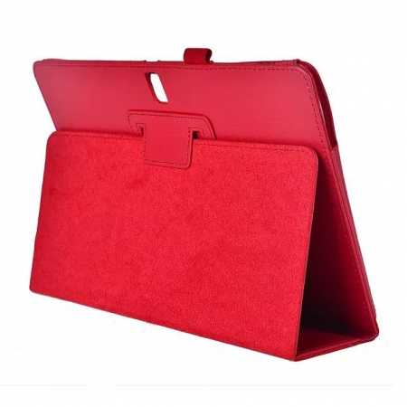 Lychee Leather Stand Fold Folio Case for Samsung Galaxy Tab S 10.5 T800 - Red