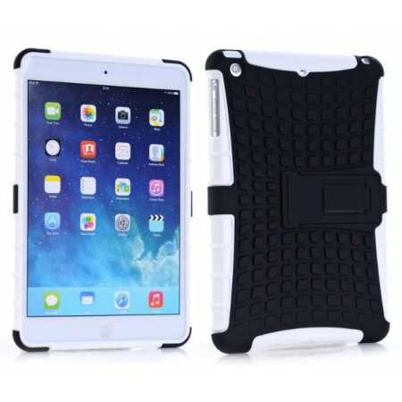 Shockproof Military Duty Hybrid Hard Case for iPad Mini 2 Retina - White