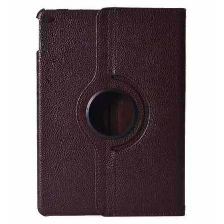 360°Rotatable Litchi Pattern Leather Stand Case For iPad Air 2 - Brown