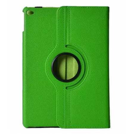 360°Rotatable Litchi Pattern Leather Stand Case For iPad Air 2 - Green